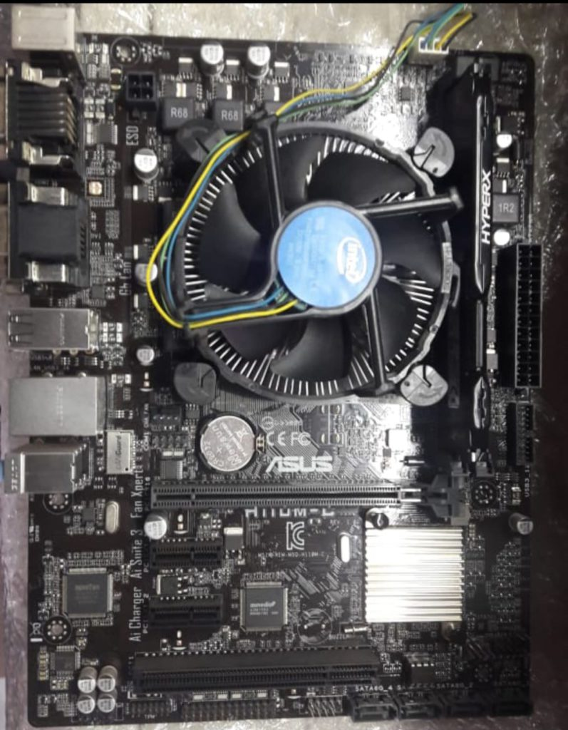 intel 6402p Asus H110M-C HyperX Fury 8GB