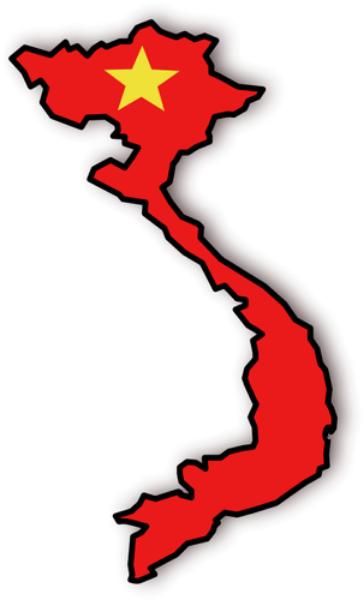 Vietnam Flag Map