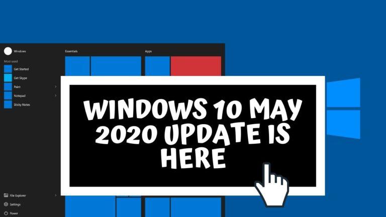 Windows 10 May 2020 Update Sneak-Peek