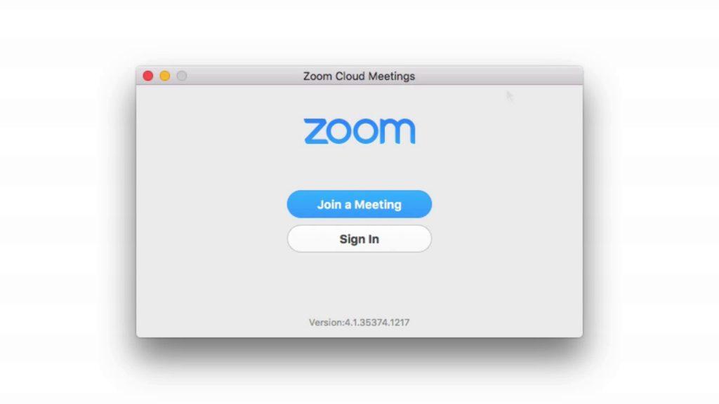 Zoom App on Mac