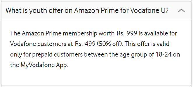 Get Amazon Prime Membership for Free with Vodafone U
